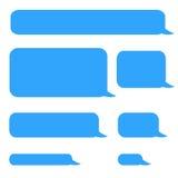 Bubblor för pratstund för bakgrundstelefonsms arkivfoton