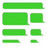 Bubblor för pratstund för bakgrundstelefonsms arkivbild