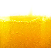 Bubblor i en closeup för orange drink Royaltyfria Bilder