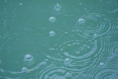 Bubblor i ett damm Arkivbild