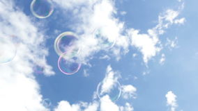 Bubblor i himlen lager videofilmer