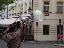 Bubblor i Prague royaltyfria foton