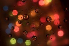 Bubblor med färgrik bakgrund royaltyfria foton