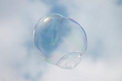 Bubblor mot himlen Royaltyfri Fotografi