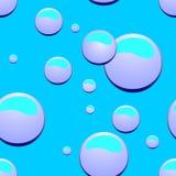 Bubblor prövkopior, modell Arkivfoton