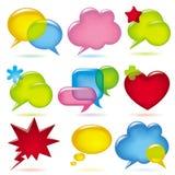 bubblor talar Royaltyfri Fotografi