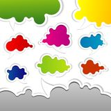 bubblor talar mallen vektor illustrationer