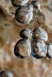 Bubblse móvil del agua fotografía de archivo
