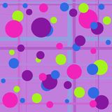 Bubbly. Fun colorful background of bright circles and pastel stripes Stock Photography