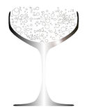 Bubbly Filled Glass Stock Photo