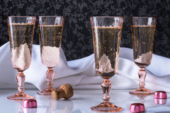 Bubbly in flutes Royalty Free Stock Photography