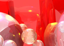 Bubbly graphics Royalty Free Stock Photography