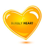 Bubbly heart Stock Images