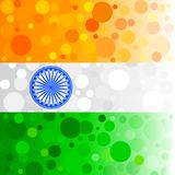 Bubbly Indian Background. Easy to edit vector illustration of bubbly background in Indian flag color Vector Illustration