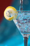 Bubbly martini Stock Images