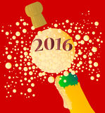 Bubbly New Year 2016 Stock Photos