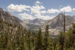 Bubbs小河峡谷,国王峡谷国家公园,加利福尼亚 免版税库存图片