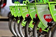 BuBi, велосипед города Будапешта Стоковое фото RF
