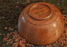 Bubinga Wood Bowl Royalty Free Stock Images