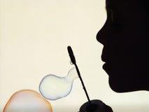 Bubles del jabón Foto de archivo