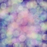 Bubles do arco-íris na textura azul profunda do borrão Imagens de Stock