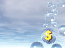 Bubles and dollar sign Stock Images