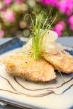 Bubu Arare Crusted Salmon Royaltyfria Foton