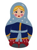 Bubushka doll in winter Royalty Free Stock Image