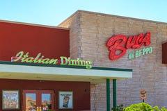 Buca-Di Beppo Italian Restaurant Sign lizenzfreies stockfoto