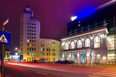 Bucarest alla notte Fotografia Stock