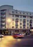 Bucarest alla notte Fotografia Stock Libera da Diritti