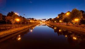 Bucarest au coucher du soleil Images stock