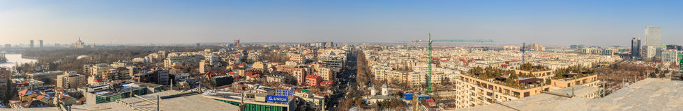 Bucarest Aviatiei distrito 17 de febrero de 2017 - panorama aéreo Imagen de archivo