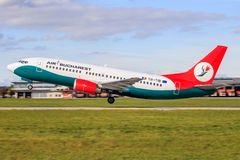 Bucarest Boeing 737 photographie stock libre de droits