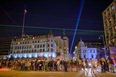 Bucarest - Calea Victoriei Fotografie Stock Libere da Diritti