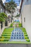 Bucarest - calle pintada de las escaleras Imágenes de archivo libres de regalías
