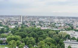 Bucarest da sopra Fotografia Stock Libera da Diritti