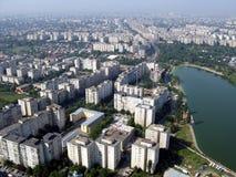 Bucarest desde arriba fotos de archivo libres de regalías