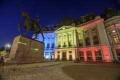 Bucarest en la noche Imagen de archivo
