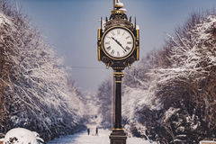 Bucarest en un día de invierno Foto de archivo libre de regalías