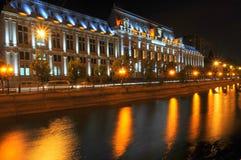 Bucarest entro la notte Fotografia Stock