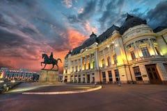 Bucarest entro la notte Immagini Stock Libere da Diritti