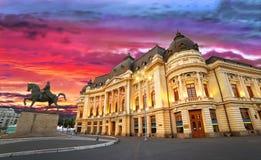 Bucarest entro la notte Fotografia Stock Libera da Diritti