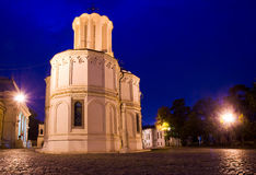 Bucarest entro la notte - cattedrale patriarcale Fotografie Stock Libere da Diritti