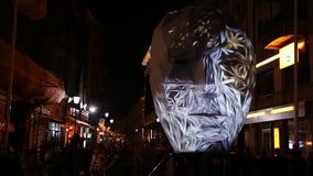 Bucarest, festival de las luces 2018 almacen de metraje de vídeo