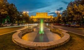 Bucarest -- Palazzo del Parlamento Immagine Stock