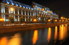 Bucarest par nuit Photographie stock