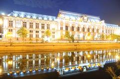 Bucarest par nuit Images libres de droits