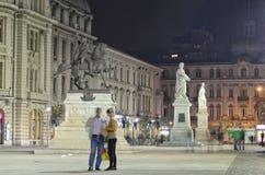 Bucarest - quadrato dell'università fotografie stock