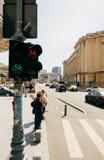 Bucarest Romania Calea Victoriei Immagine Stock